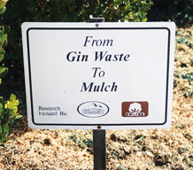 Gin Waste Sign