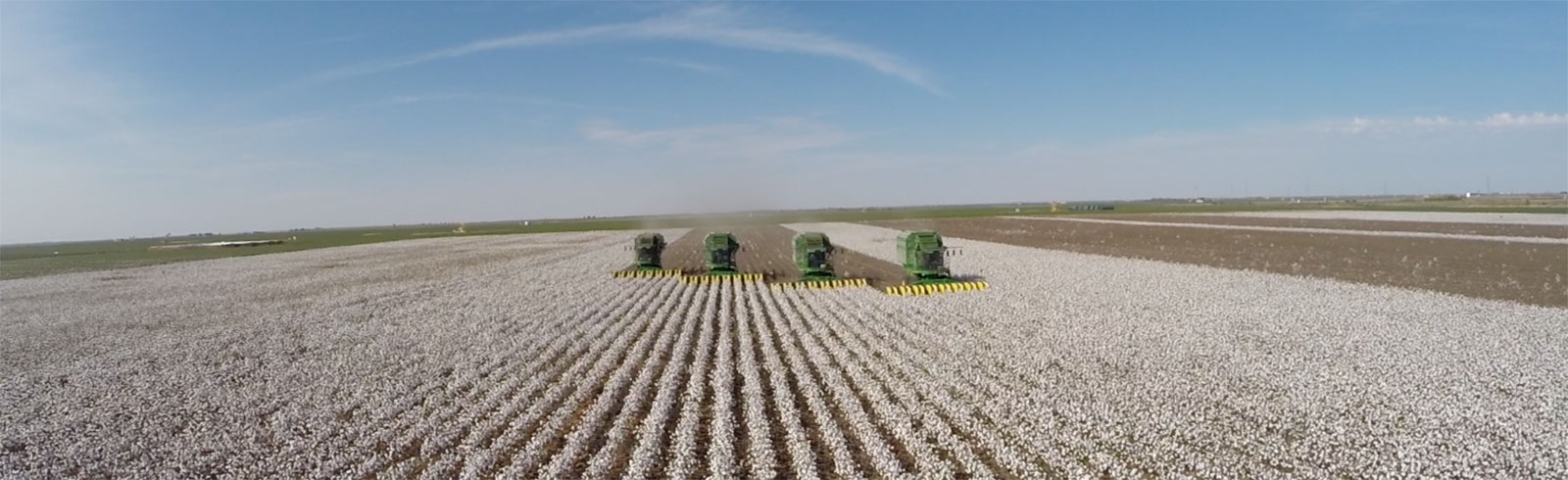 Aerial Cotton Harvest