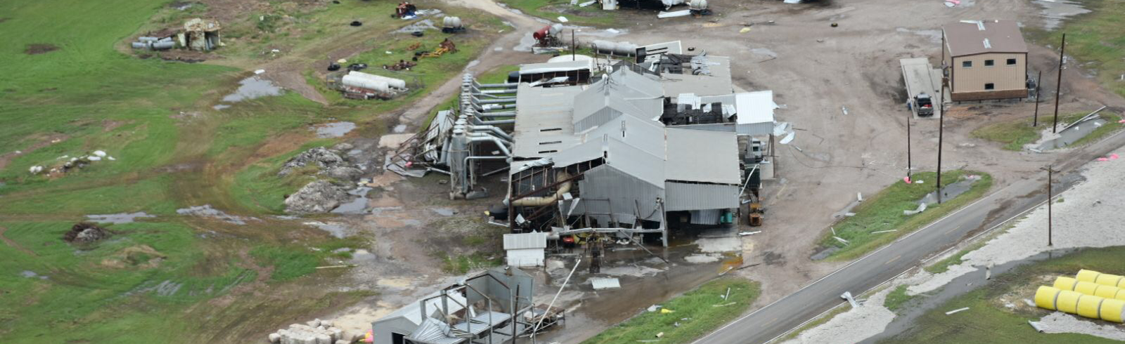 Hurricane Harvey Gin Damage Aerial