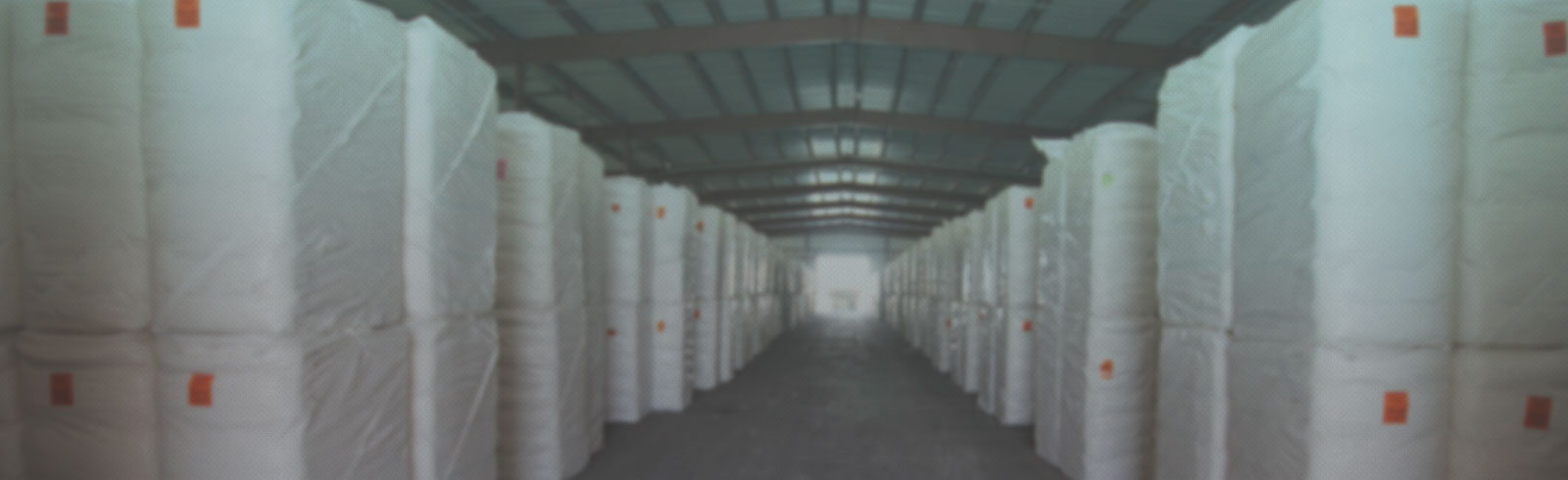 Cotton Bales in Warehouse