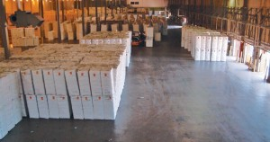 Bales in Warehouse