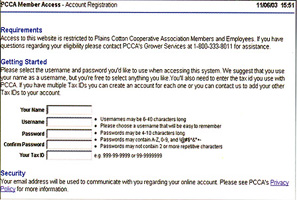 Member Access Screenshot